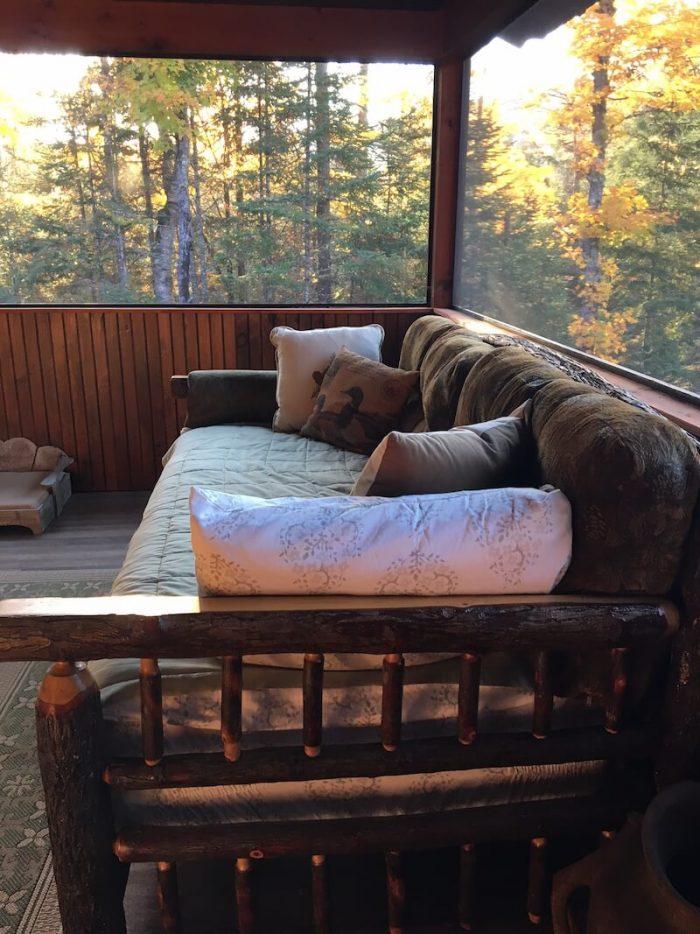 beautiful screened porch